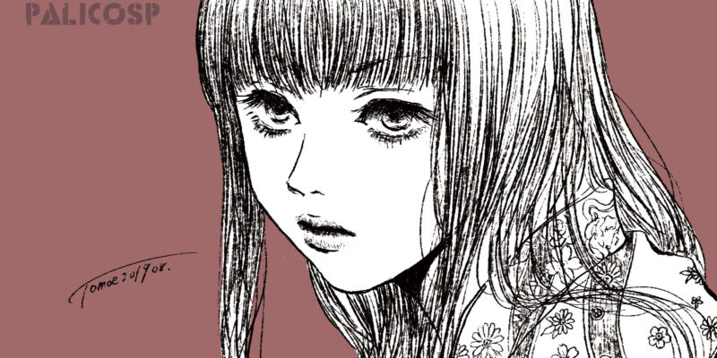 憤り(着物少女のイラスト)