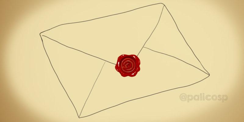 赤い封蝋のイラスト