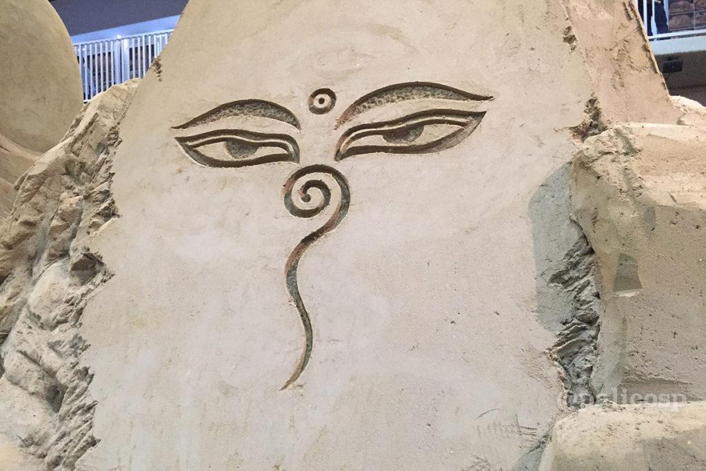 第12期南アジア編|メジェド?砂像