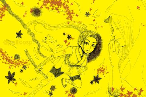 【人物イラスト】ペン画らくがき・和風